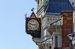 Clock in Gothic Revival style Royalty Free Stock Photo