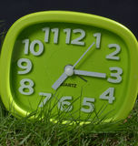 Clock on grass Royalty Free Stock Photography
