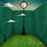 Clock in green room Royalty Free Stock Photography