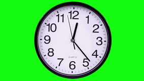 Clock on a green 00,00 TimeLapse stock video footage