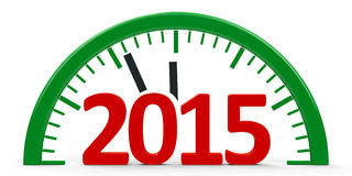 Clock 2015, half Royalty Free Stock Photography