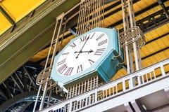 Clock of Hamburg main railway station. Stock Photo
