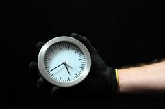 Clock And an Hand Royalty Free Stock Photography
