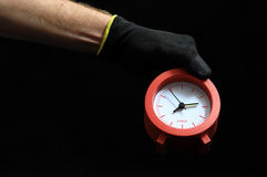Clock And an Hand Royalty Free Stock Photos