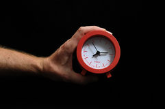 Clock And an Hand Stock Photography