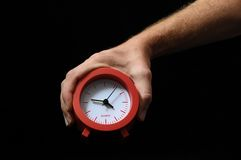 Clock And an Hand Stock Images