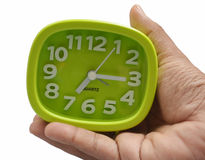 Clock in Hand Stock Image