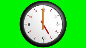 Clock handles going around 12 hours stock video footage