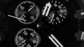 Clock hands. Macro watch. Macro watch time lapse. clock hands stock video