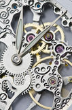 Clock hands and mechanism Stock Images