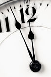 Clock hands almost twelve zoom in Royalty Free Stock Photos