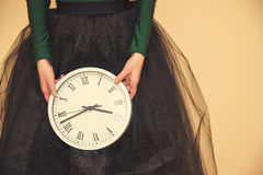 Clock in hands Royalty Free Stock Photos