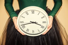 Clock in hands Royalty Free Stock Photography
