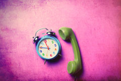 Clock and handset Stock Images