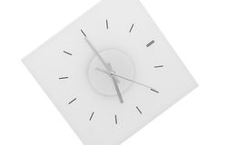 Clock isolated. Clock hanging on the wall, black and white style Royalty Free Stock Images