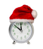Clock in the hat of Santa Royalty Free Stock Photo