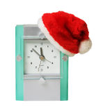 Clock in the hat of Santa Royalty Free Stock Photos