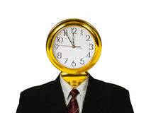 Clock for head Royalty Free Stock Photography