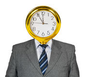 Clock for head Royalty Free Stock Photo