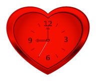 Clock heart Royalty Free Stock Photography