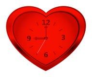 Clock heart royalty free stock photography