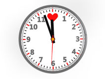 Clock with Heart Shaped Royalty Free Stock Photo
