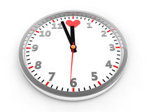 Clock with Heart Shaped Royalty Free Stock Photography