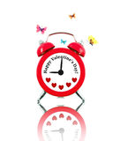 Clock with hearts and text instead of numbers Stock Photos