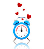 Clock with hearts and text instead of numbers Royalty Free Stock Photo