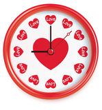 Clock with hearts. Vector Stock Image