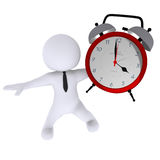 Clock. High Class rendered figure for perfect message transportation Royalty Free Stock Photos