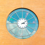 Clock of Hilversum train station, Netherlands Stock Photography