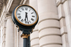 Clock at Historic Union Station Kansas City Missouri. Clock outside of Beautiful Historical Union Station train station in Kansas City Missouri Royalty Free Stock Photos
