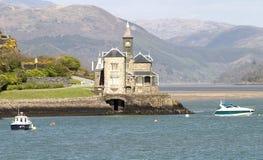 The Clock House. Clock house on river estuary stock photos