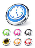 Clock icon. Clipart illustration design Stock Image