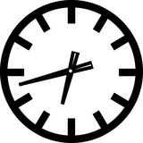 Clock Icon. Vector illustration of a clock Stock Photography