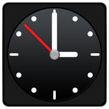 Clock Icon - black color Stock Photos