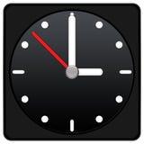 Clock Icon - black color Stock Photos