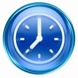 Clock icon blue Royalty Free Stock Image
