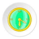 Clock icon, cartoon style. Clock icon. Cartoon illustration of clock vector icon for web Royalty Free Stock Image