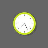 Clock icon color flat design vector Stock Images