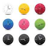 Clock icon color. This image is a vector illustration. Clock icon color Royalty Free Stock Photography