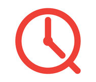 Clock Icon. Design, AI 8 supported Stock Image