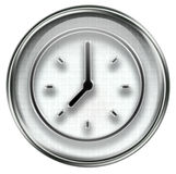 Clock icon grey Royalty Free Stock Images