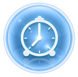 Clock icon ice Royalty Free Stock Photo