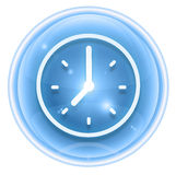 Clock icon ice Stock Photos
