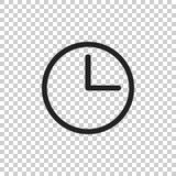 Clock icon illustration. Flat vector clock pictogram Stock Image