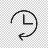 Clock icon illustration. Flat vector clock pictogram Royalty Free Stock Photos