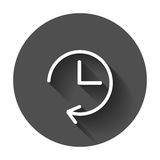 Clock icon illustration. Stock Images