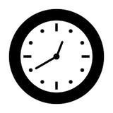 Clock icon image. Clock icon over white background.  illustration Stock Photo